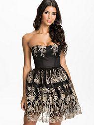 Club L Embroided Puff Prom Dress