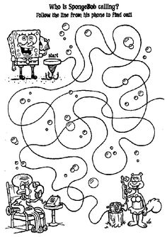 Squidward Tentacles coloring page Spongebob birthday Pinterest