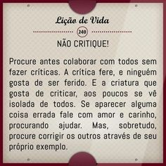 Lição de vida -240 #liçãodevida #liçãodevidatexto #liçãodevidamensagens #liçãodevidareflexão #liçãodevida frases #liçãodevidaamizade #MensagensdeReflexão #FrasesdeReflexão #Reflexão #Mensagensdemotivação #motivação #superação #frasesdesuperação #mensagemdesuperação #Frasesdemotivação #HistoriasdeLiçãodevida #Mensagensdeliçãodevida #Frasesdeliçãodevida #bomdia #boatarde #boanoite #amor #vida #Frasesdeamor #frasedeamor #FrasesparaStatus #frasesparawhatsapp Strong Words, Wise Words, Love Messages, Inspirational Message, More Than Words, Word Of God, Bible Quotes, Positive Quotes, Texts
