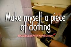 if only I could sew