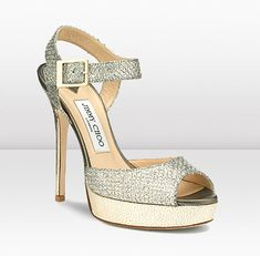 Hot and Sexy!!! Glitter fabric wedge sandals are the perfect evening sandals.