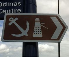 Actual sign in Cardiff Bay