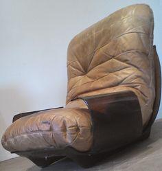Michel Ducaroy a Pair of Kashima Leather Sofa Ligne Roset France ...