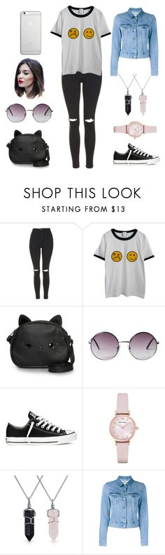 """""""Date Night"""" by kayleighlordtaylor on Polyvore featuring Topshop, Chicnova Fashion, Loungefly, Monki, Converse, Emporio Armani, Bling Jewelry, Acne Studios and Native Union"""
