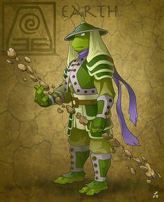 Donatello earthbender by tanya-buka