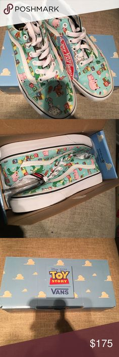 Toy Story Vans Disney Pixar Toy Story Vans. Old Skool size men's 4.         Women's 5.5 Andy's toys NWT in original box NIB Vans Shoes Sneakers