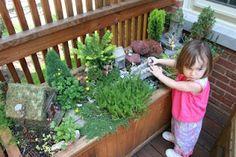 Pink and Green Mama: Children's Backyard Fairy Garden
