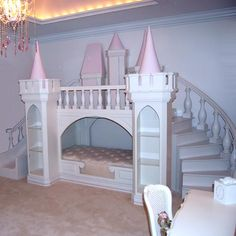 WANT THIS SO BAD.....for me :) Princess Palace Playhouse Bed from PoshTots..$14,000