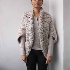 (4) Name: 'Crocheting : Very Winter cable shrug