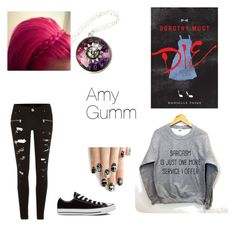 """Amy Gumm"" by mckayla-dasha ❤ liked on Polyvore featuring Converse, River Island and alfa.K"
