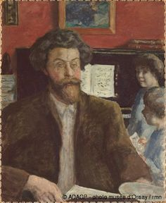 The Composer Claude Terrasse and 2 Sons 1902 Bonnard Oil on canvas Orsay Museum