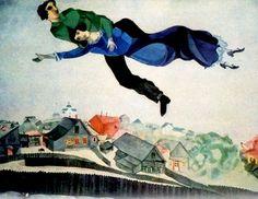 Chagall - A gara con i venti di montagna,al di sopra delle vette, insieme volammo.