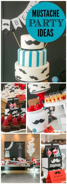 So many mustache treats at this boy birthday party! See more party ideas at CatchMyParty.com!