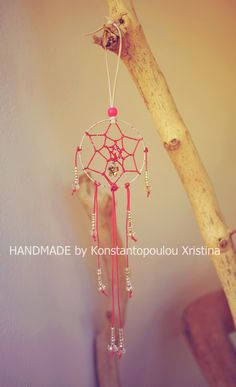 Unique Handmade Pink dreamcatcher by me. Made with lots of love and good energy!You can order by sending an email to : xrikonstantopoulou@hotmail.gr Or Dm me on instagram : xrikonstantopoulou