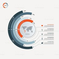 Circle infographic template with 5 options. royalty-free circle infographic template with 5 options business concept stock vector art & more images of number 5 Web Design, Graph Design, Chart Design, Design Blog, Design Resume, Urban Design, Design Trends, Circle Infographic, Process Infographic