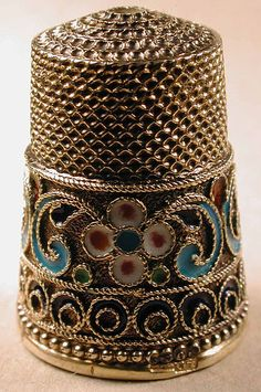 Russian filigree thimble