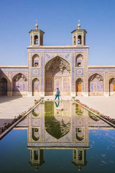 This is the Nasir-al-Mulk Mosque in Shiraz, Iran.