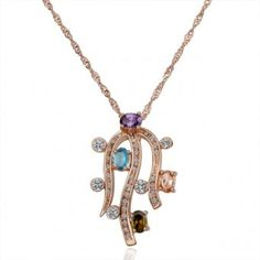 Roped 18 Karat Gold Plated Necklace