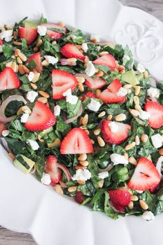 Summer Kale Salad with Strawberries and Avocado (and Life-Changing Tips for Making Better Salads)