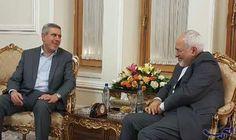 وزير الخارجية الإيراني يلتقي المساعد السابق لرئيس…: التقي وزير الخارجية الايراني محمد جواد ظريف بالمساعد السابق للرئيس العراقي، مساعد…