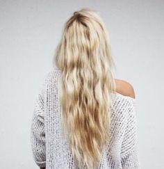 beachy waves. long hair don't care. long blonde hair