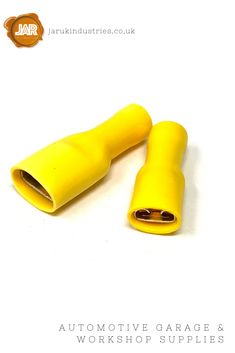 Female Push-on Blade Terminals (Yellow) - Fully Insulated - - Cable (Pack