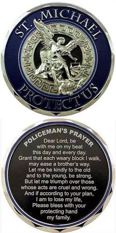 St. Michael w/Policeman's Prayer  Facebook - Guardians Of The Thin Blue Line