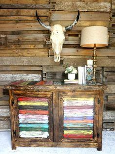 Zarape Rustic Bench - February 03 2019 at Rustic Farmhouse Entryway, Rustic Buffet, Rustic Bench, Rustic Decor, Rustic Charm, Modern Farmhouse, Kitchen Modern, Rustic Furniture, Painted Furniture