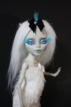 """Altered Art  Doll """"Isadora Chill""""  Monster High Rochelle Goyle OOAK Custom Repaint by Refabrications"""