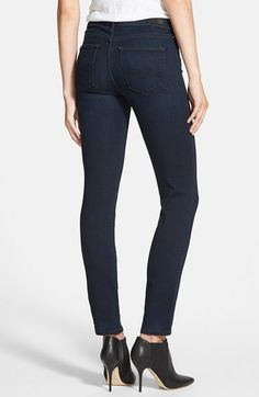 ag prima mid-rise skinny jeans in jetsetter dark wash