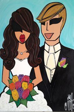 Custom Wedding Portrait by twiggyoriginals on Etsy, $550.00