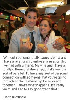 John and Jenna...this makes me sad. Why does the office over?!