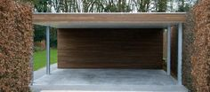 Modern carports in timber - Livinlodge PURE