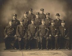 LAW AND ORDER: The Chillicothe, Ohio police department, around 1910.