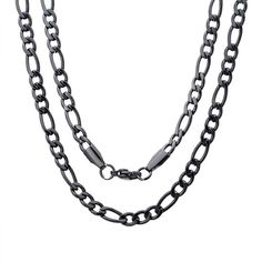 STAINLESS STEEL BLACK IP 24 INCH ROPE CHAIN NEW HIGH QUALITY DESINGER NECKLACE UNISEX CHAIN QUALITY!