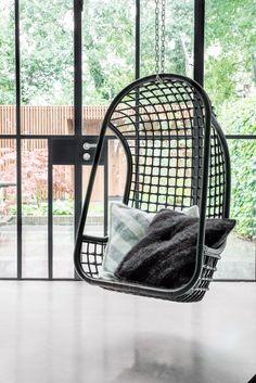 Black Rattan Hanging Chair