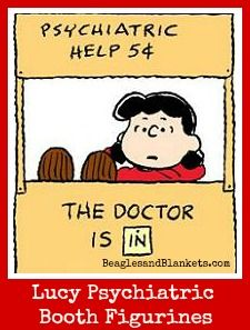 Gifts For Counselors Lucy Psychiatric Help 5 Cents Peanuts Figurines