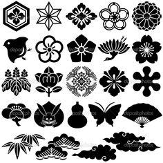 Illustration about Japanese traditional design. Illustration of cloud, daisy, kimono - 16184469 Japanese Icon, Japanese Symbol, Chinese Patterns, Japanese Patterns, Japan Design, Samourai Tattoo, Japanese Family Crest, Fu Dog, Illustration Blume