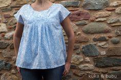 kuka and bubu: Blusa de patrón japonés – Japanese pattern blouse