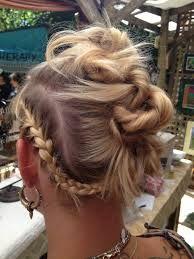 Tribal braided look with rope twist buns. For more DIY hair tricks, Dance Hairstyles, Modern Hairstyles, Braided Hairstyles, Twist Bun, Rope Twist, Tribal Hair, Hair Hacks, Hairdresser, Your Hair