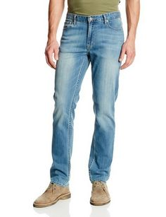 awesome Men's Slim Straight Leg Jean In Silver Bullet - For Sale