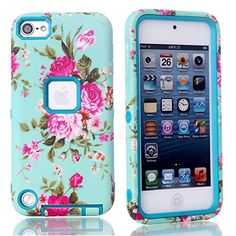 MagicSky Plastic + TPU Rose Flower Pattern Tuff Dual Layer Hybrid Armor Case for Apple iPod Touch 5 5th Generation - 1 Pack - Retail Packaging - Teal MagicSky http://www.amazon.com/dp/B00L9THL4O/ref=cm_sw_r_pi_dp_JiA4tb1R3H6DK