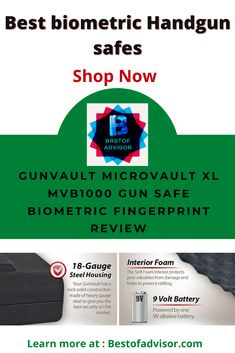 A fingerprint gun safe is very secure for advanced level safety. This type of safe is very popular to protect the most valuable things in your home and office. Find the best fingerprint gun safe for your home, shops, or office. Read more...[] Fingerprint Gun Safe, Fingerprint Recognition, Types Of Fingerprints, Biometric Scanner, Gun Vault, Gun Safes, Digital Lock, 9 Volt Battery, Safe Shop