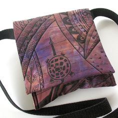 Small Crossbody Purse Quilted Purple purse by KathyKinsella