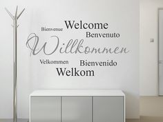 Wandtattoo Willkommen mehrsprachig Learning For Life, Sticker, Diy, Home Decor, Style, Entryway, Deco Wall, Languages, Coat Racks