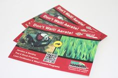 Custom color postcards for Turf Managers, a lawn and landscaping company based in Nashville, TN. These are a standard postcard size of 4.25″x 6″.