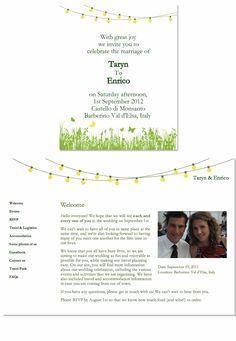 Garden Party wedding website design from glosite.com, custom wedding websites, RSVP management, and email invitations.