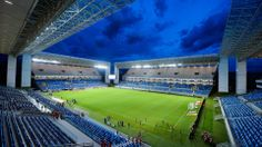 2014 FIFA World Cup™ - CUIABA, BRAZIL - APRIL 02: General view of Arena Pantanal Stadium before the match between Santos and Mixto as part of the Brazil Cup 2014 on April 2, 2014 in Cuiaba, Brazil. The Arena Pantanal was inaugurated today and the stadium will host matches during the forthcoming FIFA 2014 World Cup Brazil.