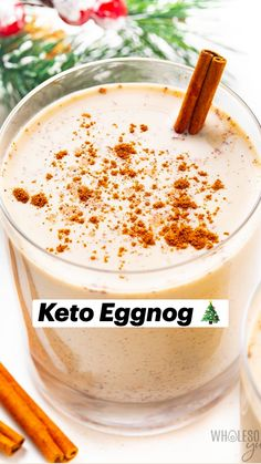 Low Carb Drinks, Low Carb Desserts, Low Carb Recipes, Lchf, Banting, Keto Holiday, Egg Nog, Keto Drink, Keto Cookies