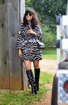 Zebra Print Dress Outfit